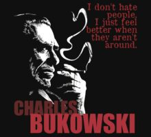 Poet & Author Charles Bukowski Tee by OutlawOutfitter