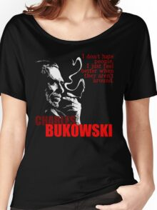 Poet & Author Charles Bukowski Tee Women's Relaxed Fit T-Shirt