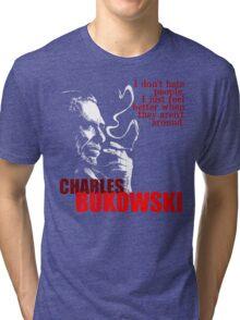 Poet & Author Charles Bukowski Tee Tri-blend T-Shirt