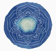 Watercolor blue lotus One Piece - Short Sleeve