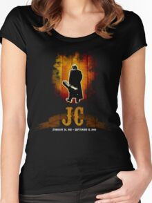 The Man In Black - Johnny Cash Women's Fitted Scoop T-Shirt
