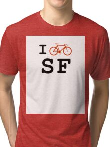 "I ""ride"" San Francisco Tri-blend T-Shirt"