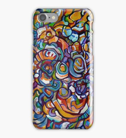 Purple orange abstraction iPhone Case/Skin