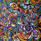 Purple orange abstraction by VicCollider