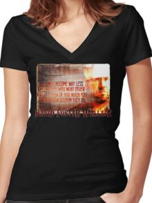 David Foster Wallace - Infinite Jest Quote Shirt Women's Fitted V-Neck T-Shirt