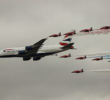 British Airways and the Red Arrows by Chris Mobbs