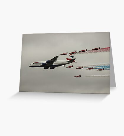 British Airways and the Red Arrows Greeting Card