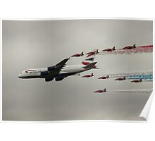 British Airways and the Red Arrows Poster