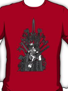 Kingdom Hearts: Game of Hearts blk+wht T-Shirt