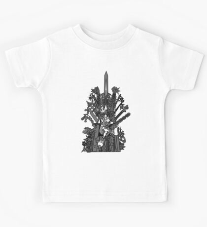 Kingdom Hearts: Game of Hearts blk+wht Kids Tee