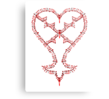 Kingdom Hearts: Keyblades to my Heartless Metal Print