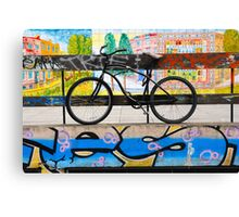 On your bike Banksey Canvas Print