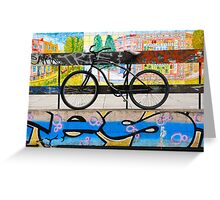 On your bike Banksey Greeting Card