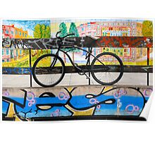 On your bike Banksey Poster
