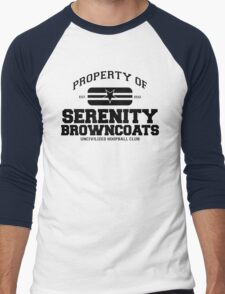 Property of Serenity Browncoats Uncivilized Hoopball Club Men's Baseball ¾ T-Shirt