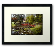 Architecture - Japan - Tranquil moments  Framed Print