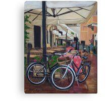 Italian Bicycles Canvas Print