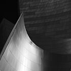 Disney Hall Abstract Black and White by Rona Black