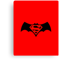 Batman/Superman Logo (DC Comics) Canvas Print