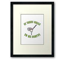 40th Birthday Golf Humor Framed Print