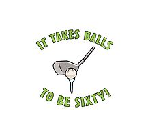 60th Birthday Golf Humor Photographic Print