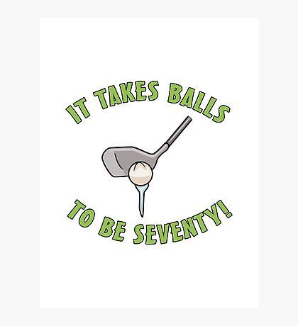 70th Birthday Golf Humor Photographic Print