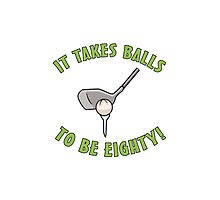 80th Birthday Golf Humor Photographic Print