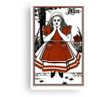 Alice In Wonderland; A Play. Canvas Print