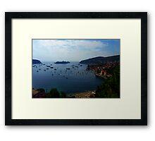 Villefranche  Bay Framed Print