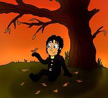 Cartoon of Guy of Gisborne by sebabybaby