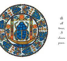 Resurrection Mandala - Full-Color Card, w/Msg by TheMandalaLady
