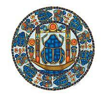 Resurrection Mandala - Full-Color Card by TheMandalaLady