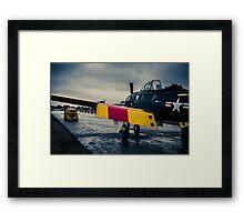"""U.S. Navy North American T28D """"Trojan"""" Framed Print"""