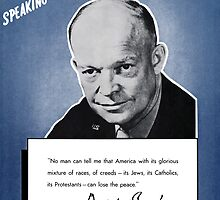 General Eisenhower -- Speaking For America by warishellstore