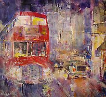 Red Bus Busy London Traffic - Cities Art Gallery by Ballet Dance-Artist