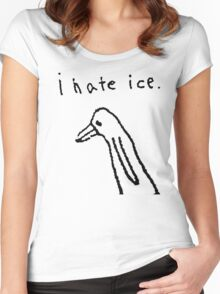 i hate ice. Women's Fitted Scoop T-Shirt