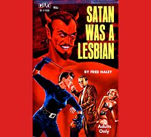 """Satan Was a Lesbian"" Womens Fitted T-Shirt"