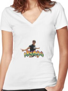 Housos Paul French Logo Clothing & Stickers Women's Fitted V-Neck T-Shirt