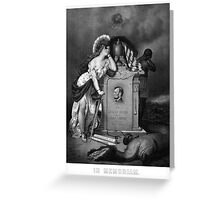 Abraham Lincoln -- In Memoriam Greeting Card