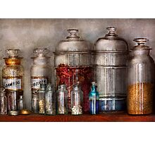 Pharmacy - Mysterious pebbles, powders and liquids Photographic Print