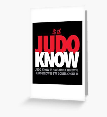 Judo Know Greeting Card