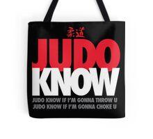 Judo Know Tote Bag