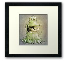 hello three eyes ... Framed Print