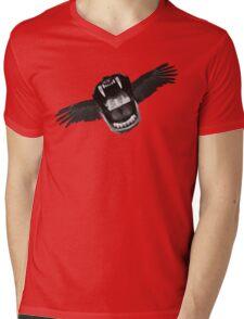 Flappy Mouth Mens V-Neck T-Shirt