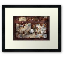 Pharmacy - Signs of the time  Framed Print