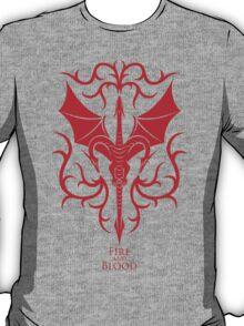 Targaryen Crest & Words - Clean T-Shirt