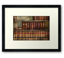 Lawyer - Books - Law books  Framed Print