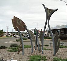 Fish Sculptures, Ulladulla, New South Wales, Australia 2011 by muz2142