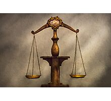 Lawyer - Scale - Fair and Just Photographic Print