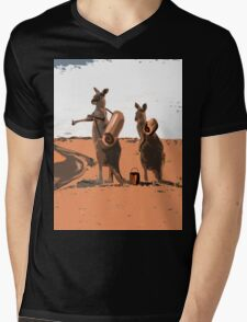 AUSSIE BACKPACKERS Mens V-Neck T-Shirt